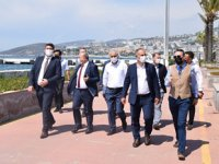 Denizcilik Genel Müdürü Ünal Baylan, Ege Port Kuşadası Limanı'nı ziyaret etti