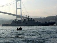 Rus savaş gemileri, İstanbul Boğazı'ndan geçti