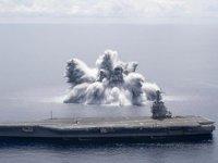 USS Gerald R. Ford uçak gemisi, 18 tonluk patlayıcı ile test edildi
