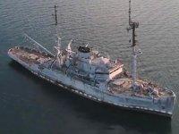 ATMACA'nın vurduğu geminin son hali görüntülendi