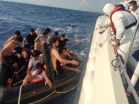 Aydın'da 100 düzensiz göçmen kurtarıldı