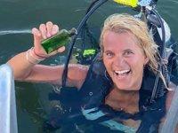 Tekne kaptanı, şişe içinde denize atılmış 95 yıllık not buldu