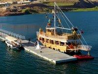 Hasankeyf'te 16 adet tekne yolcu taşıyacak