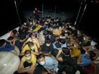 Bodrum açıklarında 63 göçmen yakalandı