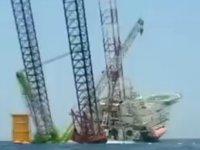 Çin'de deniz platformu yan yattı: 4 kişi kayıp