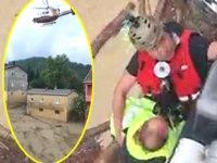 Sahil Güvenlik ekipleri, selde mahsur kalan 53 kişiyi kurtardı