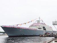 ABD Donanması'nın yeni kıyı muharebe gemisi LCS-27, suya indirildi