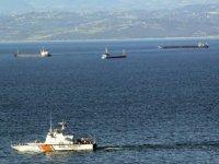 Onlarca gemi, rüzgar nedeniyle Sinop Doğal Limanı'na demir attı