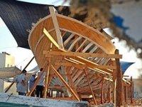 Gazze'nin en büyük balıkçı teknesi inşa ediliyor