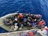 Marmaris'te 46 düzensiz göçmen kurtarıldı