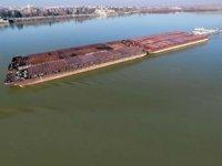 Tuna Nehri taşımacılığı düşük su seviyesi engeline takıldı