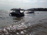 Datça'da fırtınaya dayanamayan tekne battı