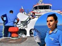 Tuğba Çokoğullu, İzmir Körfezi'ndeki ilk kadın güverte görevlisi oldu
