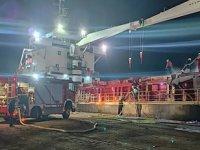 Hırvatistan'da Türk bayraklı MEHMET ÜNLÜ isimli gemide yangın çıktı