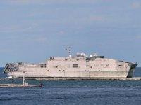 ABD hızlı transfer gemisi, Dedeağaç Limanı'na askeri sevkiyat yaptı
