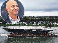 Jeff Bezos'un Y721 isimli yelkenli yatı suya indirildi