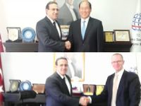 IMO Genel Sekreter Adayları, Özkan Poyraz'ı makamında ziyaret etti