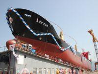 M/V YM FUJI, Marmara Tersanesi'nde yapılan törenle denize indirildi