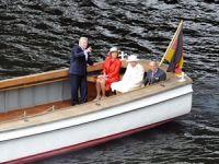 Kraliçe 2. Elizabeth'in Almanya'da tekne keyfi