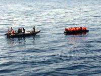 SGK Midilli'de kaçak göçmenlere müdahale ediyor