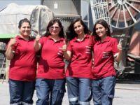 Mersin Limanı'nda vinçlerin kontrolü kadınlarda