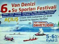 6. Van Denizi Su Sporları Festivali bugün başlıyor