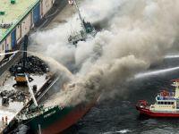 Kamboçya bayraklı M/V HONG YAN isimli gemide yangın çıktı