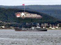 Rus Donanması'na ait savaş gemisi Çanakkale Boğazı'ndan geçti