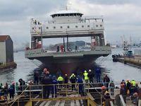 Sedef Tersanesi SFC için inşa ettiği ilk feribotu denize indirdi