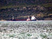 Çanakkale Boğazı'nda makine arızası yapan gemi sürüklendi