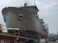 Çeksan Tersanesi'nde M/V RONJA SUPPORTER adlı gemi denize indirildi
