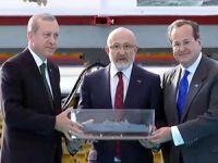 TCG ANADOLU'nun sac kesimi, Cumhurbaşkanı Erdoğan'ın katılımıyla gerçekleşti