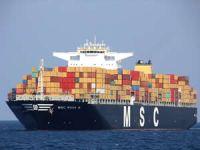 """365 metre uzunluğundaki """"MSC Rosa M"""" Çanakkale Boğazı'ndan geçti"""