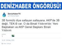 DenizHaber'in öngörüsü gerçekleşti! Binali Yıldırım 65. Cumhuriyet Hükümeti'nin Başbakanı oluyor