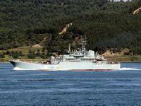 Rusların provokatör gemisi Çanakkale'de TCG KDZ Ereğli ile burun buruna geldi
