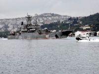 Boğazdan geçen Rus gemilerine Sahil Güvenlik'ten  yakın takip