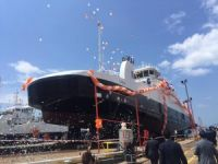 Norveçli FJORD1 AS'a inşa edilen M/F LOSNA feribotu, Ada Tersanesi'nde denize indirildi