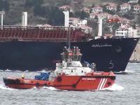 LNG yüklü tankerin Çanakkale Boğazı geçişinde, gemi trafiğine kapatıldı