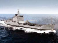 TCG YZB. GÜNGÖR DURMUŞ isimli Lojistik Destek Gemisi, denize indiriliyor