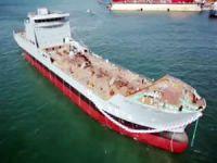 'TCG Yüzbaşı Güngör Durmuş' isimli Lojistik Destek Gemisi, törenle denize indirildi