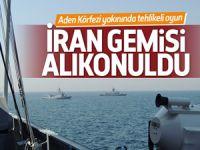 Yemen karasularında İran gemisine alıkondu