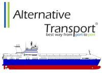 Alternative Transport, M/V MELEQ isimli Ro-Ro gemisini Flensburg'ta denize indiriyor