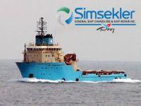 Aliağa'da söküme gelen Maersk'e ait 2 adet açık deniz destek gemisi, Fransa açıklarında battı