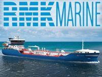 RMK Marine Tersanesi'nde inşa edilen M/T BIT ECO isimli asfalt tankeri denizle buluşuyor