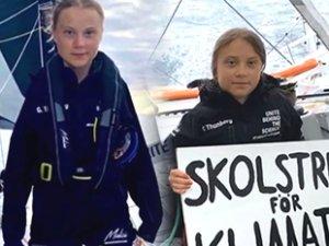 Çevreci Greta Thunberg, yelkeniyle Atlantik'te