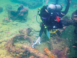 Meksika'da İlk Maya köle gemisi bulundu