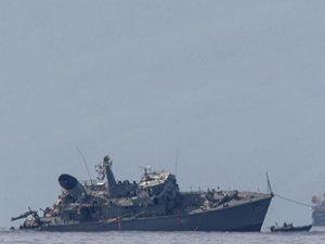 Yunan mayın tarama gemisinin çatışma sonrası görüntüleri ortaya çıktı