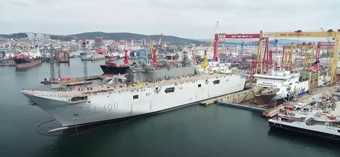TCG Anadolu gemisinin inşası devam ediyor