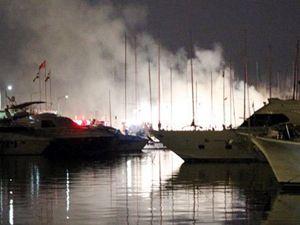 Kalamış Marina'da çıkan yangında 15 tekne zarar gördü